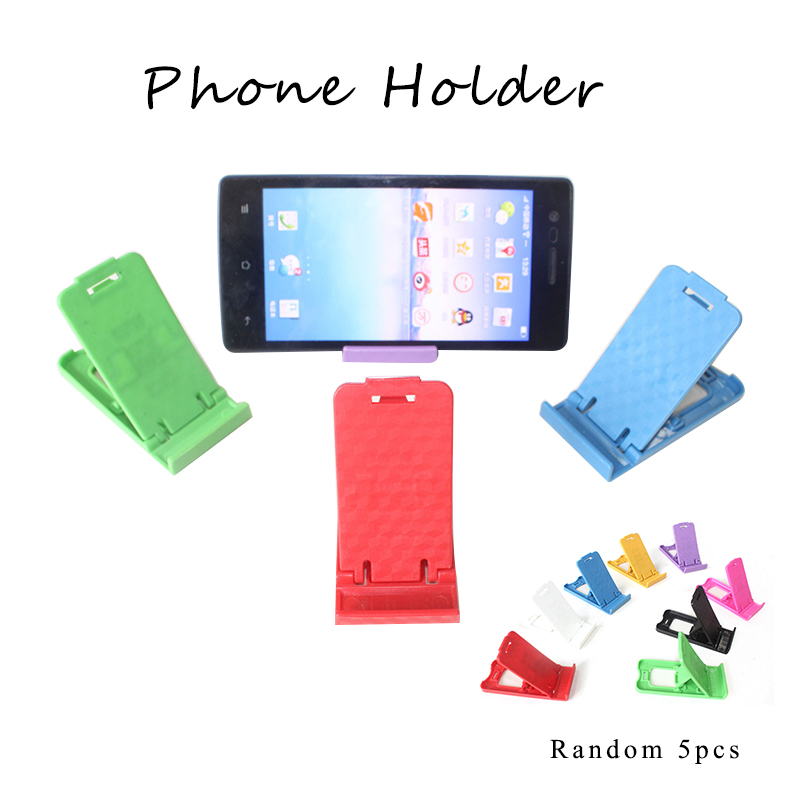 5pc Phone Stand Universal Cell Phone Holder Stander Desk Stand For Iphone Huawei Samsung Xiaom Mobile Phone Folding Holder Mount