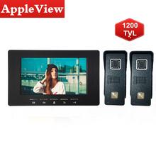 Wideodomofon System 7 Cal kolorowy wideodomofon przewodowy wideodomofon dla prywatnego domu IP65 wodoodporna tanie tanio Appleview Głośnomówiący CMOS color Acrylic monitor and Metal Doorbell 7 inch screen Ue wtyczka Us wtyczka Au plug Wtyczka uk