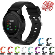 Quickfit Sport Rubber Band For Garmin Fenix 6 5 5Plus Forerunner 945 935 Quatix 5 Sapphire Approach S60 Silicone With Tool garmin fenix 5 sapphire black black band