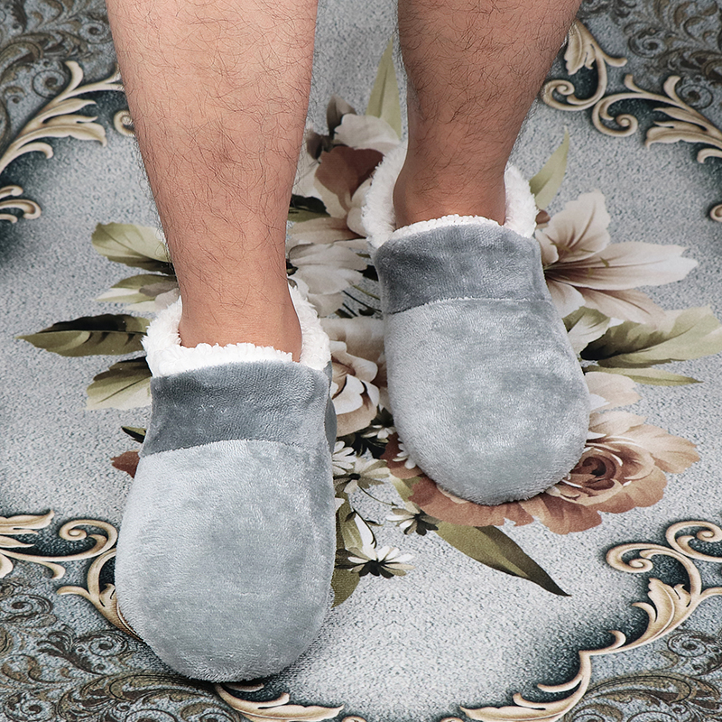 Зимние домашние мужские тапочки домашние тапочки размера плюс 44-48 мужские Тапочки для ванной пушистый напольный тапочки для мальчиков