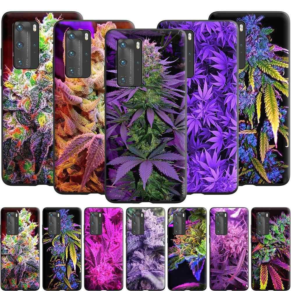 Custodia per piante viola Kush per erba erbaccia per Huawei P10 Lite P20 P30 P Smart 2021 Z P40 Pro