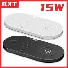 Беспроводные зарядные устройства 4 в 1 для смартфонов, умные браслеты, BlueTooth наушники для iAirpods, быстрое зарядное устройство Qi, многофункциона...