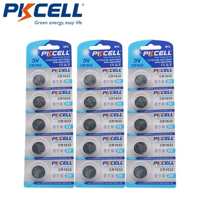 15Pcs/3 Karte CR 1632 BR1632 DL1632 ECR1632 KCR1632 LM1632 CR1632 3v lithium batterie 12Ah LiMO2 Batterie
