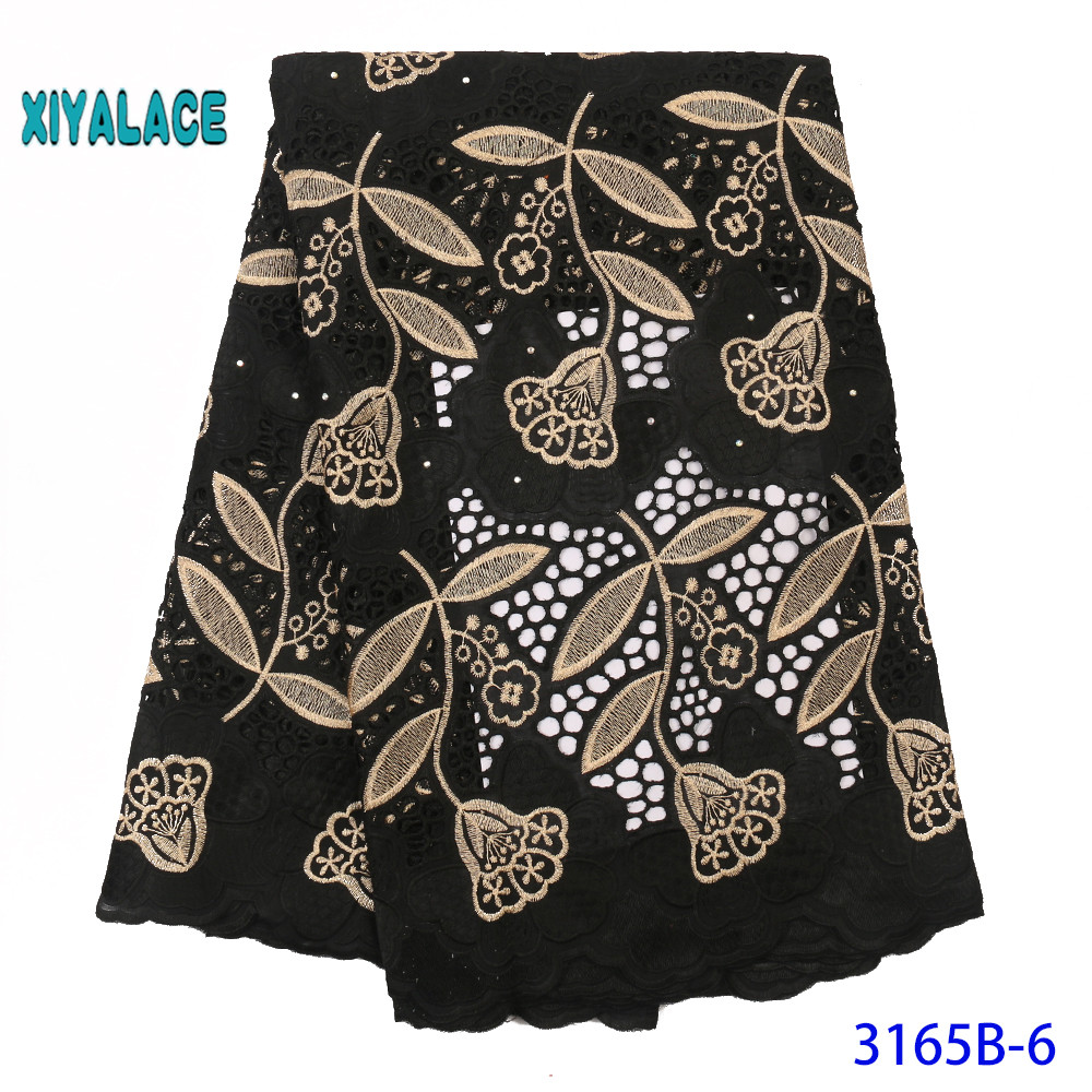African Lace Fabric Latest High Quality 2019 Lace Embroidery French Lace Fabric Bridal Lace For Nigerian Party Dress YA3165B-6