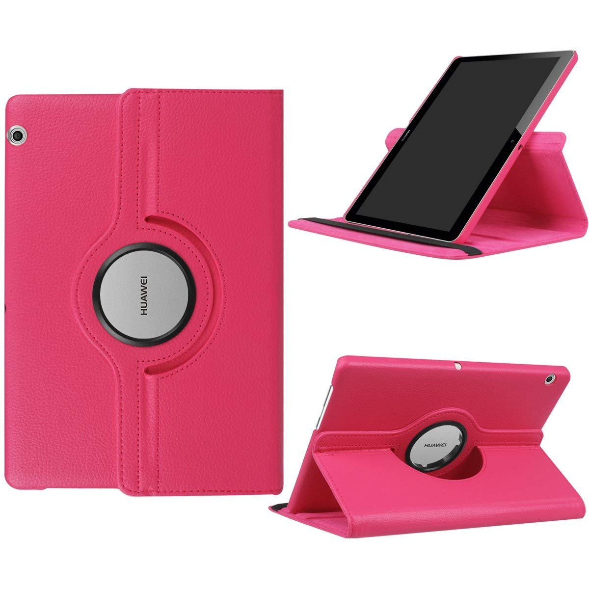 360 Degree Rotating PU Leather Tablet Cover Case For Huawei Mediapad T3 10 9.6 Inch AGS-L09 AGS-L03 AGS-W09 Sleep Awake Funda