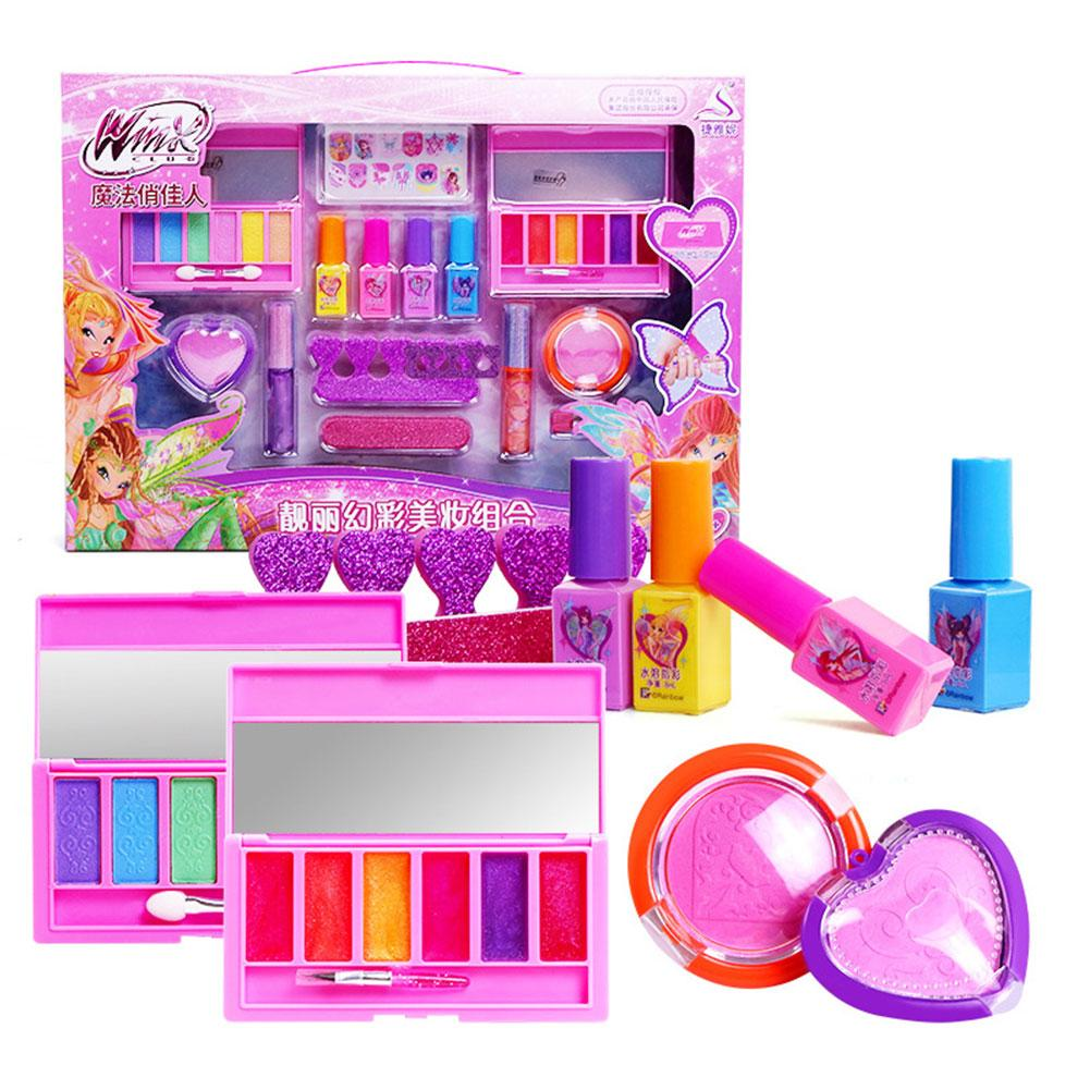 Kids Make Up Toy Set Pretend Play Princess Makeup Beauty Safety Non-toxic Kit Toys For Girls Dressing Cosmetic Girl Gifts