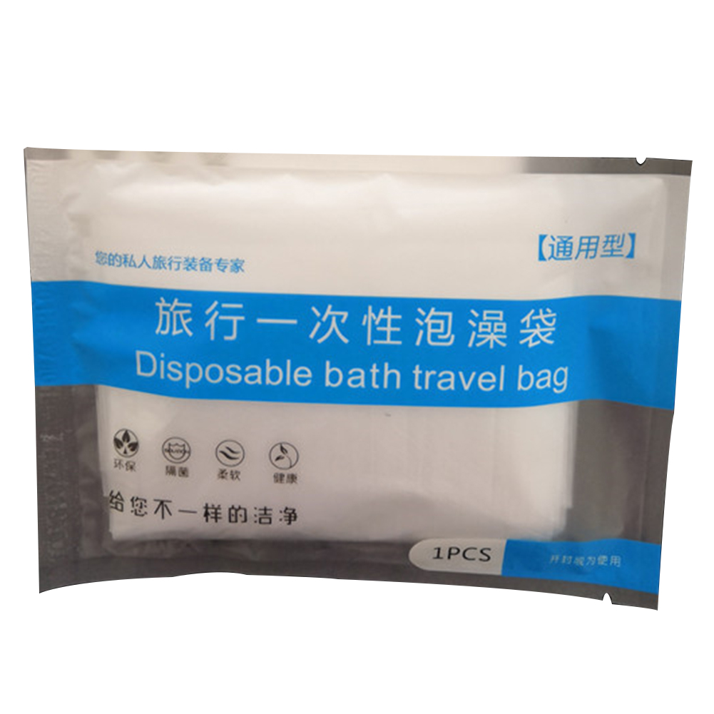 Disposable Salon Travel Bathroom Accessories Household Lining Thickened Health Care Portable Plastic Clear Bathtub Cover Bag