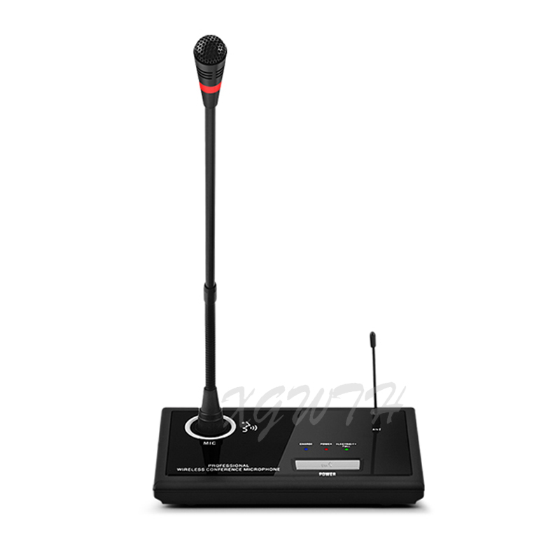 UHF беспроводной микрофон с гибким штативом конденсаторный микрофон с настольным передатчиком и мини перезаряжаемый приемник для обучения ... - 2