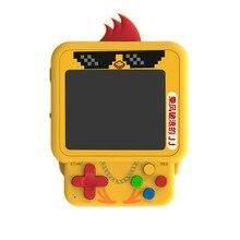 Mini pingente mochila, console de jogo, frango bonito, w1 jogo handheld, nostálgico bonito série, construído em 99 jogos retro handheld