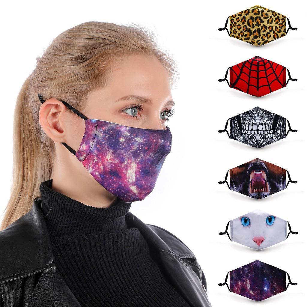 Universal Dust-Proof And Smog-Washable Mouth Face Mask For Adults In Europe And America Fashion Reusable Mouth Face Masks Cover