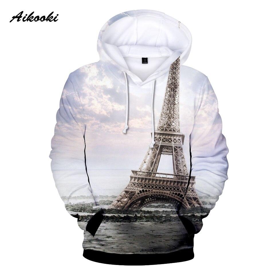 Famous France Paris Eiffel Towe 3D Hoodies Men Women Hooded Beautiful France Paris Eiffel TowerSweatshirts