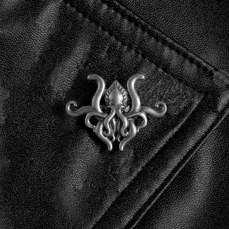 Octopus tentacles Fiction game metal pin H.P. Lovecraft Cthulhu badge brooch Lapel pin Shirt backpack hat jewelry gift for fans image