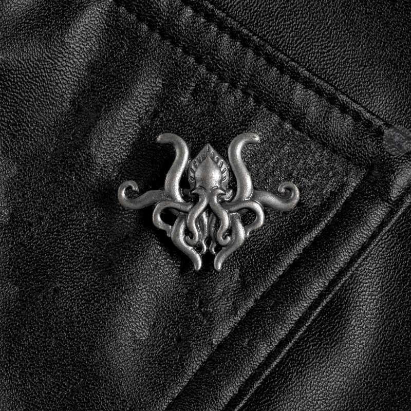 문어 촉수 소설 게임 금속 핀 h.p. Lovecraft cthulhu 배지 브로치 옷깃 핀 셔츠 배낭 모자 쥬얼리 팬들을위한 선물