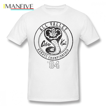 Cobra Kai T Shirt Cobra Kai T-Shirt Printed Funny Tee Shirt Plus size Male Streetwear 100 Cotton Short Sleeves Tshirt cobra 100 round n 08 10