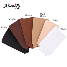 Wig-Caps Stocking Brown Beige Black Women Nylon Close-End Nunify for 2pcs Stretchy 6-Colors