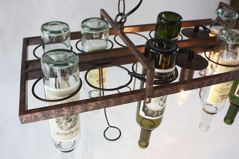 H09e85cf0e3fa413b953ea7e824b5316di Loft retro Hanging Wine Bottle led ceiling iron Pendant Lamps E27 LED pendant lights for living room bar restaurant Kitchen home