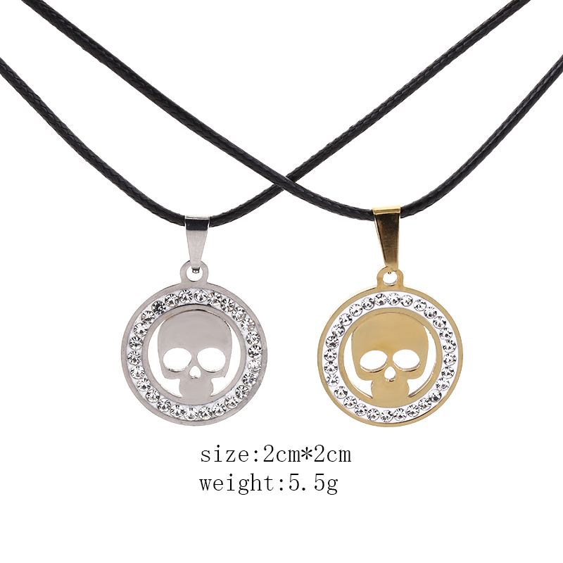 Necklace for Men Fashion Jewelry Silver Charm Hot Cakes Super Hero Character Skulls Punisher Pendant Necklace