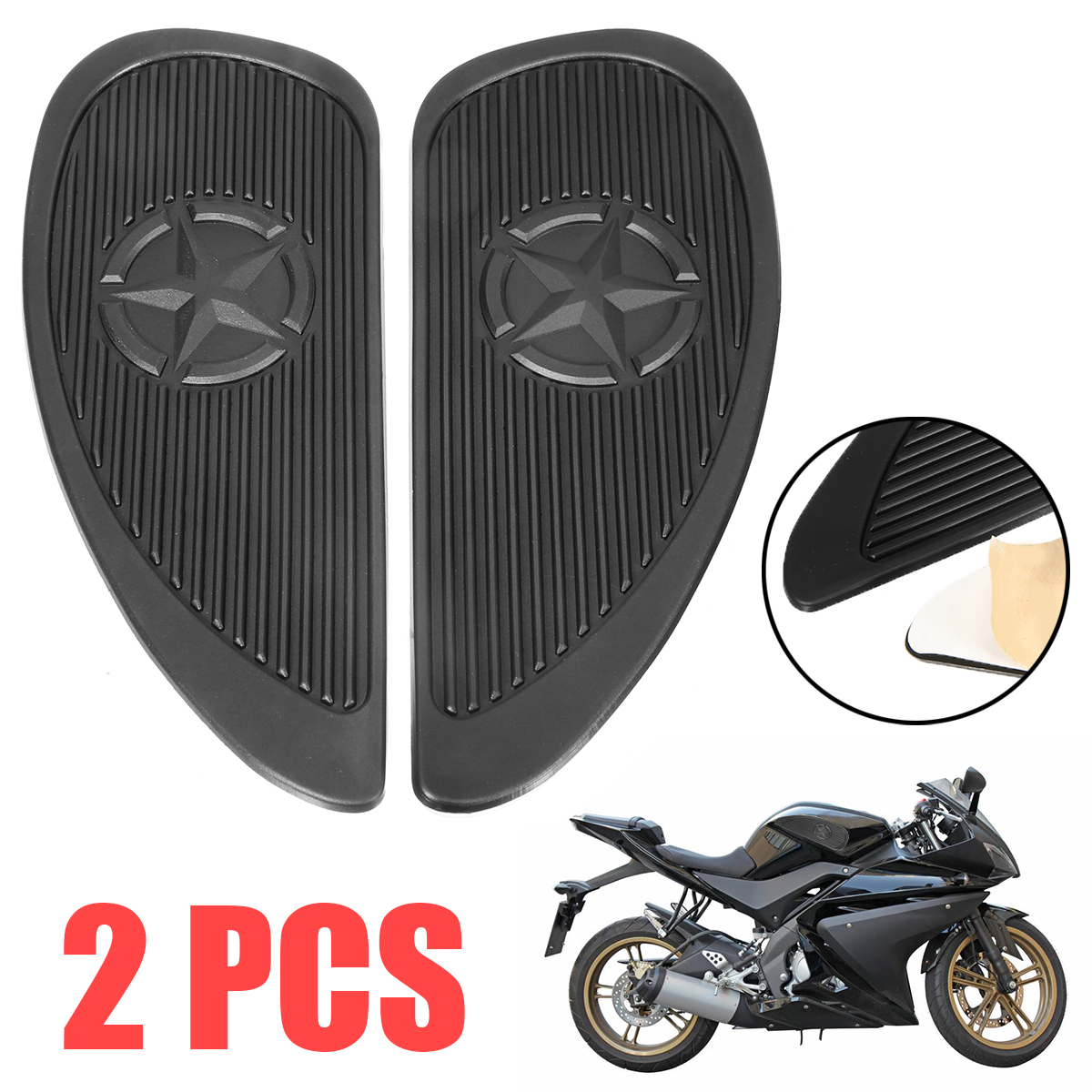 New Arrival 1pair Motorcycle Tank Traction Pad Side Gas Knee Grip Protector Anti Slip <font><b>Sticker</b></font> For <font><b>Suzuki</b></font> For Honda H-arley image