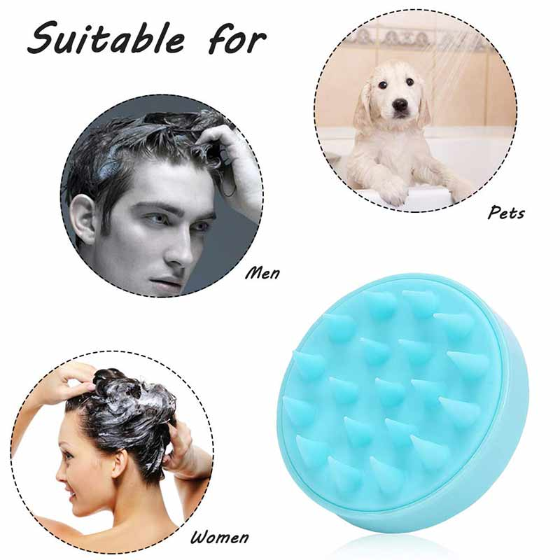 Handheld Silicone hair Brush Massage Brush Washing Shower Hair Brushes Comb  Head Slimming Cleaning Comb Massage TOOL  SET