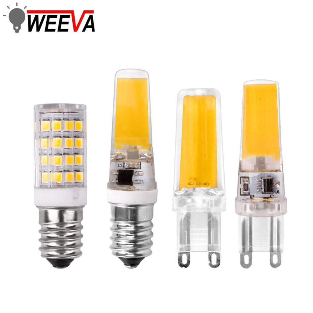 <font><b>Led</b></font> <font><b>G4</b></font> G9 E14 Lamp Bulb Dimming Lighting 3W 6W <font><b>9W</b></font> AC DC <font><b>12V</b></font> 220V COB SMD Replace Halogen Lights Spotlight Bombillas Chandelier image