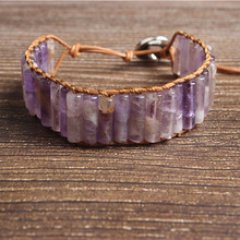 LanLi natural Jewelry  amethysts knit bracelet men and women Giving presents self use