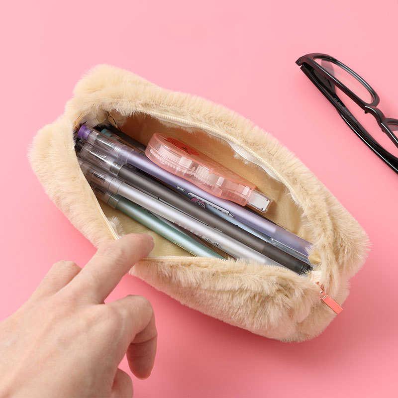 ピンクぬいぐるみかわいい鉛筆ケースかわいい素敵な鉛筆ケース女の子の学生鉛筆バッグ文具ペンケースペンバッグ用品