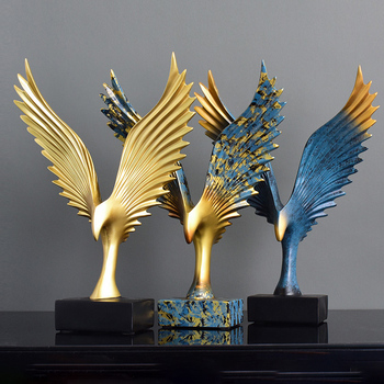 Abstract Eagle Spread Wings Living Room Fengshui Decoration Figurines Resin Model Crafts Office Decor Ornament Wedding Gifts