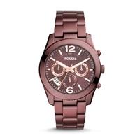 Fossil Women's Perfect Boyfriend Sport Multifunction Wine Stainless Steel Watch Luxury Brand Wrist Watch for Women ES4110
