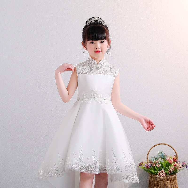 2019 Girls Performance Clothing CHILDREN'S Dress Tailing Princess Skirt Small Host Catwalks Formal Dress Piano Costume