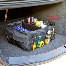 車のトランクオーガナイザー折りたたみ車オーガナイザートランクボックスポータブルバッグ収納ケースのための貨物トヨタランドクルーザープラドfj 120 150