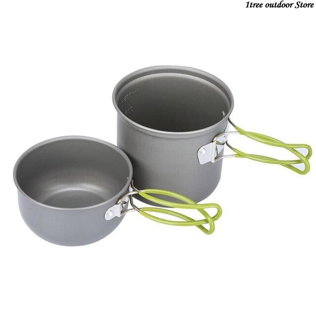 Купить сверхлегкий кемпинг посуда для печи набор всей поверхности головы