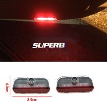 2 pces venda quente led logotipo lâmpada porta do carro luz de boas-vindas cortesia luz decorativa para soberba 2009-2018