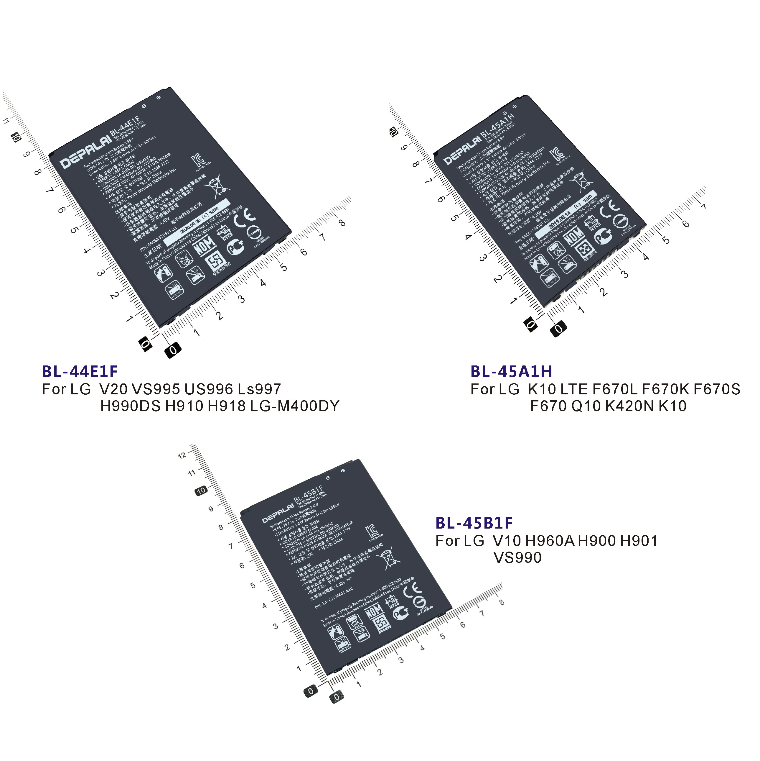 Телефон Батарея BL-44E1F BL-45A1H BL-45B1F для LG V20 VS995 US996 LS997 K10 LTE F670L K S Q10 K420N V10 H960A H900 VS990 батареи