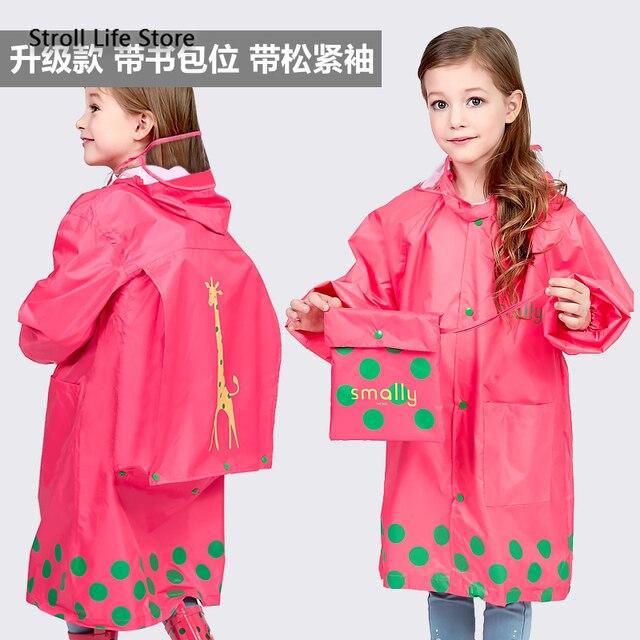 Girl Thickened Rain Coat Kids Yellow Rain Poncho Boy Cute Children Raincoat Rain Jacket Partner Waterproof Suit Impermeable Gift 5