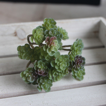 1pc Artificial Mini Simulated Succulent Plant Garden Display Fake Flower Lifelike Ornaments Festive Party Supplies