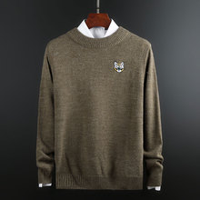 New Fashion Brand O-Neck Sweater For Mens Pullovers Thick Slim Fit Jumpers Knit Woolen Autumn Korean Style Casual Clothing Men