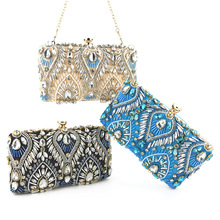 Vento Marea Sequin Evening Bags Clutches for Women Champagne Crystal Clutch Beaded Rhinestone Purse Wedding Party Chain Handbag