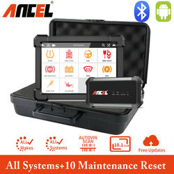 Ancel X7 Bluetooth Scanner Full System OBD2 Automotive Scanner Oil ABS Reset Car Diagnostic Tool Airbag Scan Tools Free Update