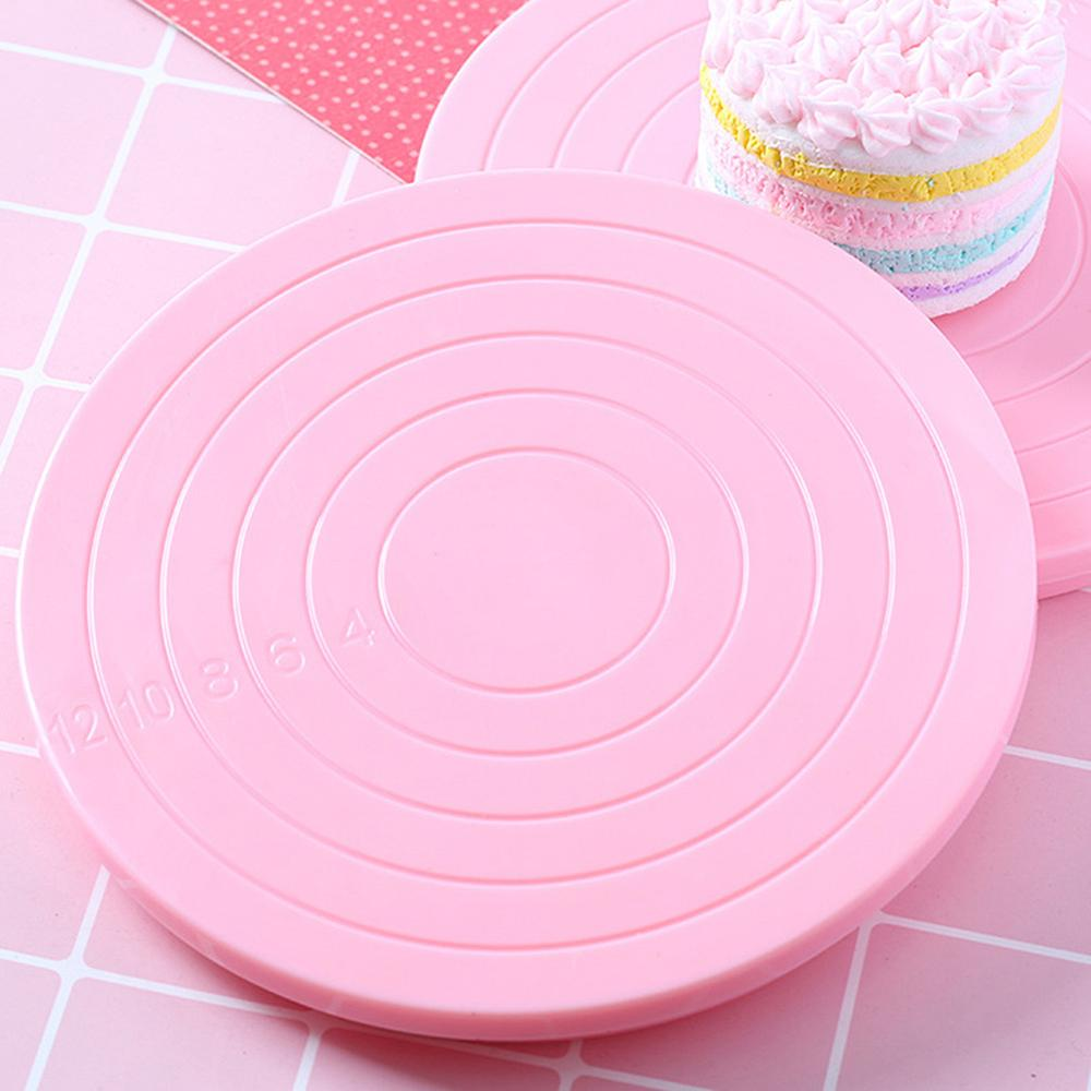 14cm DIY Rotating Cake Turntable Revolving Cake Decorating Stand Platform Cake Decorating Tool Cake Cookie Biscuits Decorating image