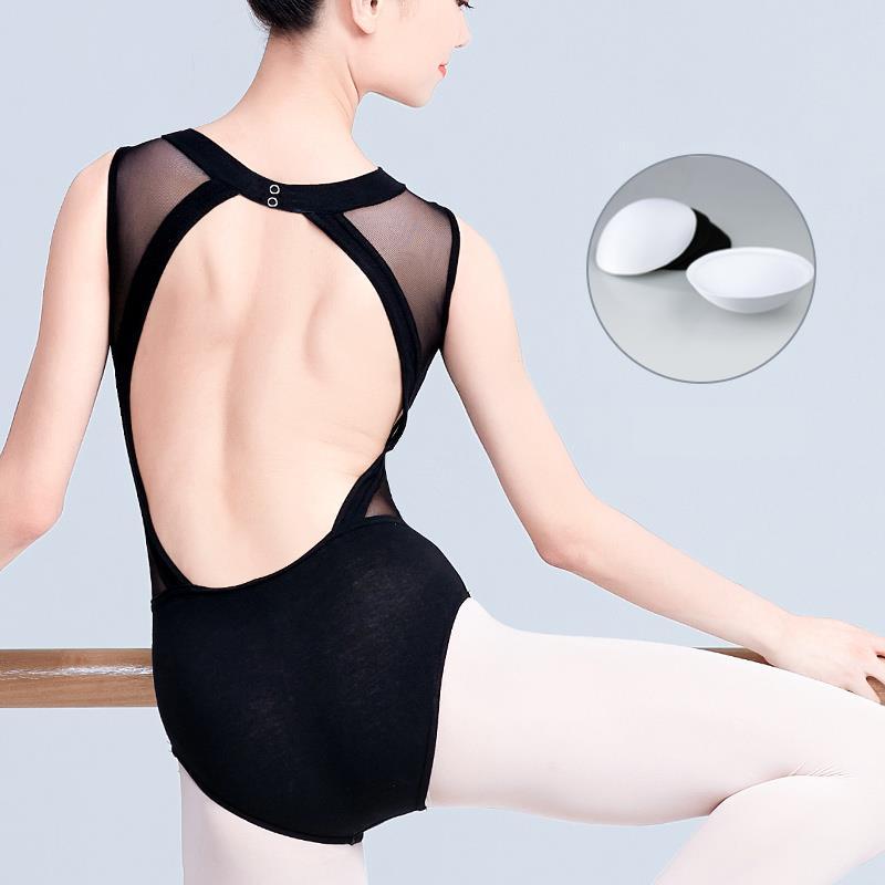 Ballet Clothing Female Adult Black Sexy Conjoined Dance Training Clothing Teacher Basic Training Art Gymnastics Clothing Breast