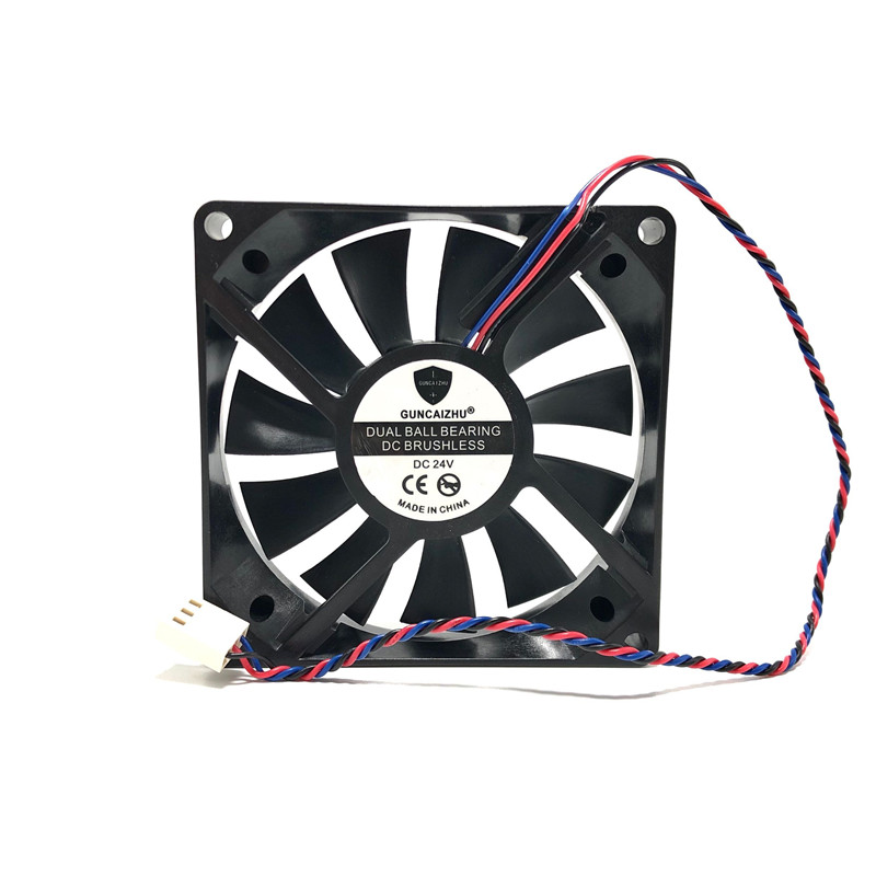 PC <font><b>Fan</b></font> 80mm 8015 24V 0.18A 3PIN TWOBALL bearing <font><b>80x80x15</b></font> cpu cooler 8CM Cooling <font><b>fan</b></font> for computer heatsink image