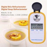 Digital Display Brix0 50% Sugar Meter Refractometer DR101 Sugar Tester Fruit Sweetness Meter Refractometer Concentration Meter|Concentration Meters|   -