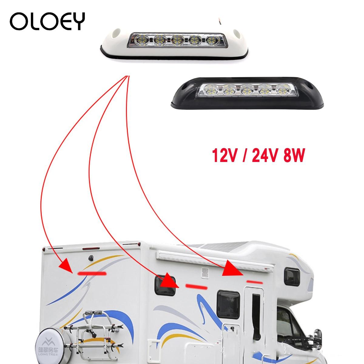 12V 24V 8W RV LED Luifel Veranda Licht Waterdichte Camper Caravan Interieur Muur Lampen Licht Bar Van camper Trailer Exterieur Lamp