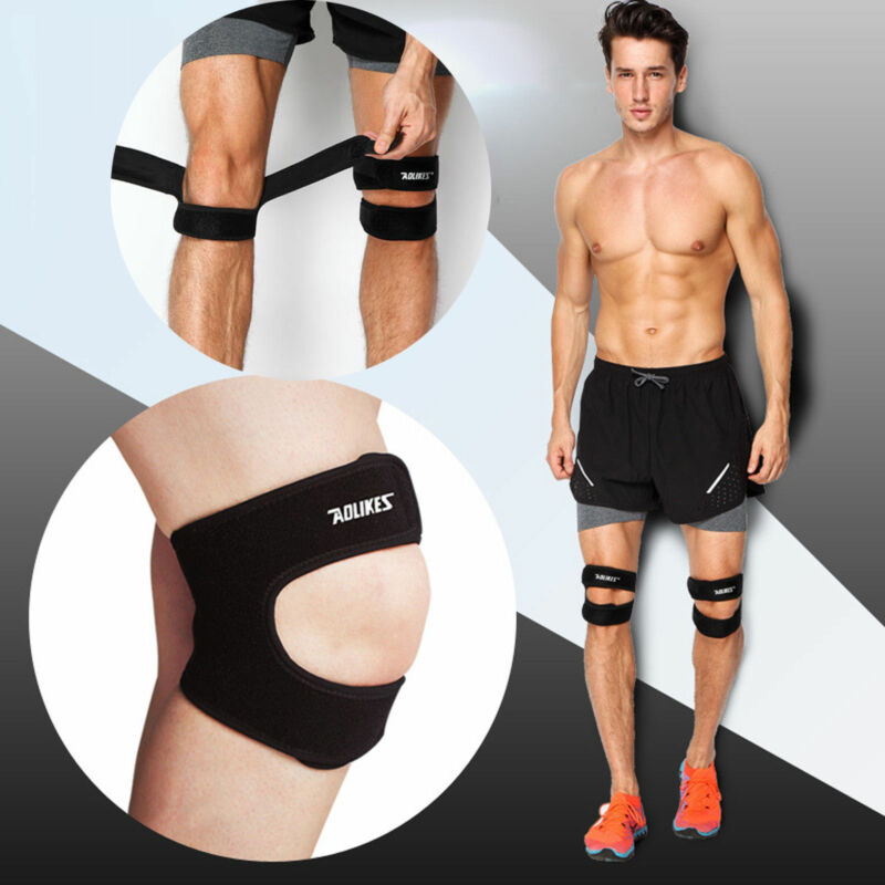 1 PC New Gym Run Knee Kneecap Patella Support Brace Strap Tendon Band Protector Running Strap Injury Pain Relief Adjustable