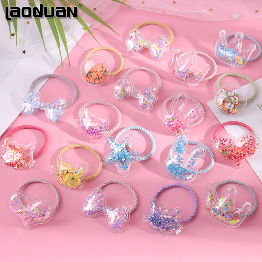 2PCS Girls Elastic Hair Bands Rubber Bands Ponytail Holders Hair Elastic Hair Band Rubber Bands Hair Accessories