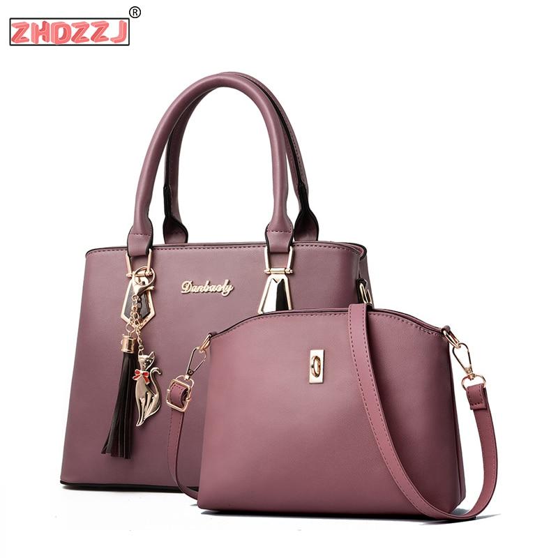 Women Bag Fashion Casual Women's Handbags Luxury Handbag Designer Two Package Shoulder Bags New For Women 2018 Bolsos Mujer