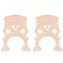 2 Piece 3/4 4/4 Regulated Double Bass Contrabass Bridge Maple Replacement Parts Cello Diy Musical Instrument Accessories(4/4)