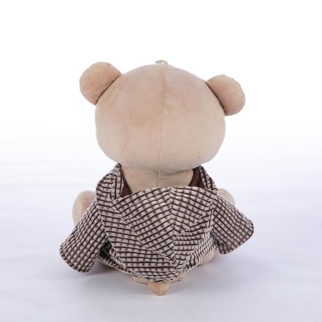 40cm plush toy bear sitting version doll teddy bear cute Plush Stuffed Animal in lovely cloth 15.7 inches gift for girlfriend Uncategorized Decoration Stuffed & Plush Toys Toys