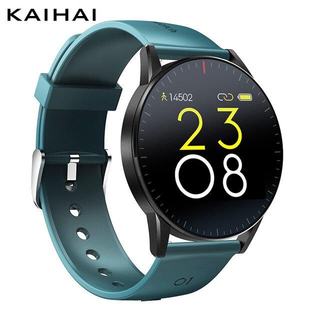 Kaihai smart watch睡眠スマートウォッチ心拍数モニター健康フィットネストラッカーストップウォッチinteligenteアンドロイドios用