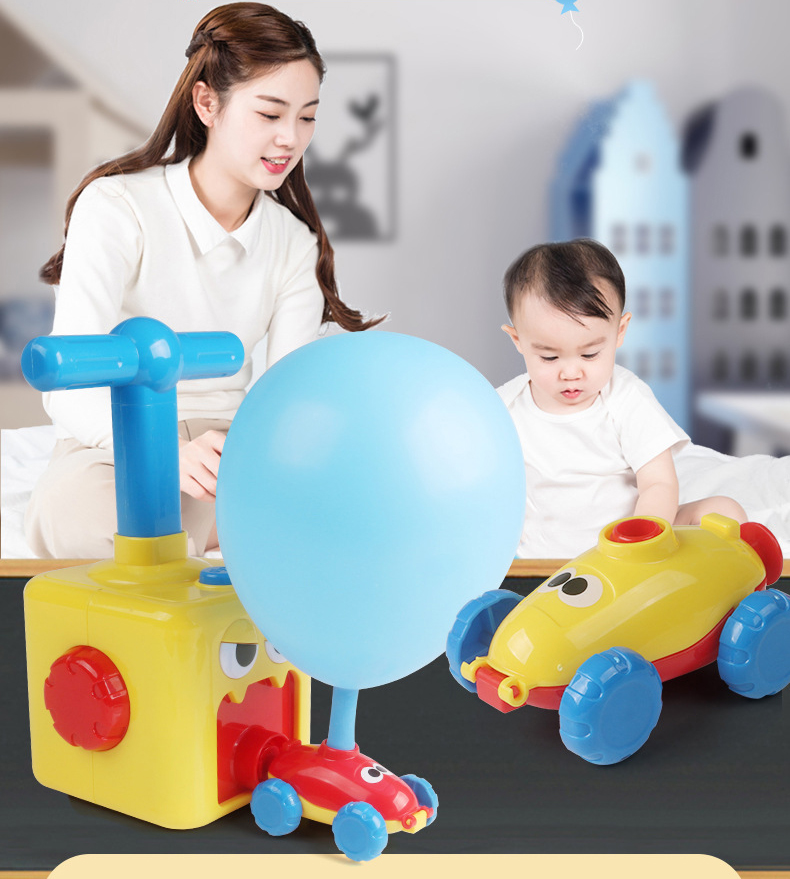 Inertial Power Balloon Car Toys for Children Puzzle Fun kids toys car Education Science Experiment Toy for Children Gift Tiktok(China)